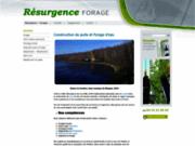 screenshot http://www.resurgence-forage.com/ forage de puits