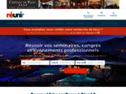 screenshot http://www.reunir.com réunir, la solution pour réussir vos séminaires