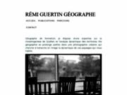 screenshot http://www.rguertin.com rémi guertin, géographe de québec