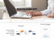 screenshot http://www.rhuys-concept.com bureau d'études mécanique