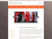 screenshot http://www.ribbonsbox.fr fabricant de rubans personnalisés