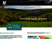 screenshot http://www.riviere-viaur.com contrat rivière viaur - syndicat mixte du bassin versant du viaur
