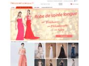 screenshot http://www.robedesoireelongue.fr/ une boutique en ligne pour offrir des robes de soirée longues élégantes