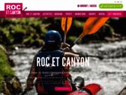 screenshot http://www.roc-et-canyon.com saut à l'élastique et loisirs de plein air