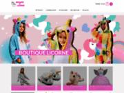 screenshot https://www.royaume-de-licorne.fr/ boutique licorne