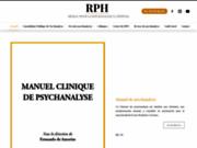 screenshot http://www.rphweb.fr/ formation théorique en psychanalyse - paris 75