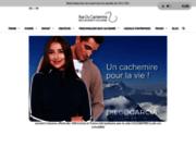 screenshot http://www.rueducachemire.com le créateur de vêtements en cashmere
