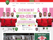 screenshot http://www.rugby-nimes.com/ site officiel rcng