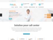 screenshot http://www.saascall.com saascall : solution pour centre d'appel !