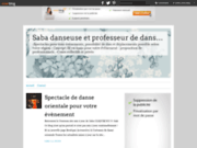 screenshot http://saba-danseuseorientale.over-blog.com cours et spectacles danse orientale