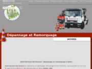 screenshot http://www.saint-bernarddesroutes.com/ dépannage, remorquage et rapatriement de passagers à arlon, st bernard.