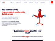 screenshot http://www.sammtrading.fr stylo publicitaire, objets publicitaires originaux, objets personnalisés.