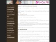 screenshot http://www.sanca.fr sanca, produit de beauté naturel