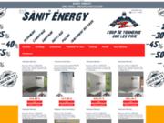 screenshot http://www.sanit-energy.com le meilleur du sanitaire et des énergies