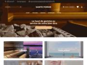 screenshot http://www.sante-forme.com Matériel esthétique et de bien être pour professionnels et particuliers
