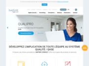 screenshot http://www.saphirconsult.com logiciel management qualité