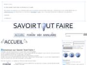 screenshot http://www.savoirtoutfaire.com savoir tout faire : comment apprendre à faire soi-même et partager son savoir-faire