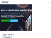 screenshot http://www.schooly.fr cours d'anglais en ligne