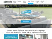 screenshot http://www.scintelle.fr scintelle, professionnel des vérandas, des menuiseries et des portails sur mesure