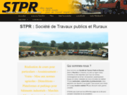 screenshot http://www.scop-stpr.com/ travaux voiries - vrd - charente 16