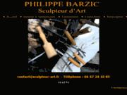 screenshot http://www.sculpteur-art.fr philippe barzic sculpteur d'art