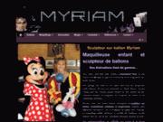screenshot http://www.sculpteur-de-ballon.com myriam, sculpteur de ballon, magicienne