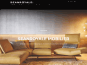 screenshot http://www.seanroyale.com canapé cuir et tissu design et angle seanroyale