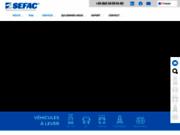 screenshot http://www.sefac.fr sefac : spécialiste des colonnes de levage mobiles