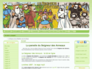 screenshot http://www.seigneur-des-annours.com parodie seigneur des anneaux - annours