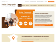 screenshot http://www.senior-compagnie.fr aide à domicile