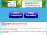 screenshot http://www.senskin.fr senskin : bien-être, traitement des douleurs