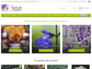 screenshot http://www.senteursduquercy.com pépinière de plantes vivaces pour terrains secs
