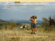screenshot http://www.ser-ane.com ser'Âne ânes et randonnées