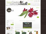 screenshot http://www.serencreation.com vente en ligne d'huile de chanvre