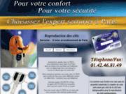 screenshot http://www.serrurier-paris10.fr reproduction de clef en ligne
