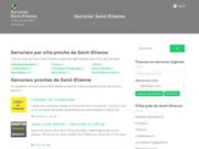 screenshot http://serrurier-saint-etienne.fr Serrurier à Saint-Etienne