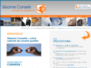 screenshot http://www.sesame-conseils.com cabinet conseil en management qualité sécurité environnement