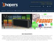 screenshot https://shopers.fr/ produits de sons et lumières