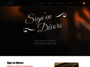 screenshot http://www.signendecors.com peintre en lettres, décoration intérieur, décoration extérieur