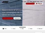 screenshot http://www.simcom.fr mailing et routage postal