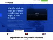 screenshot http://www.simplicite.fr/ Progiciel Mode SAAS