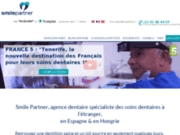 screenshot http://www.smilepartner.com clinique dentaire en espagne - smile partner