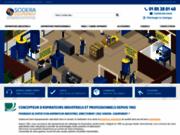 screenshot https://sodera-equipement.com/ Aspirateurs industriels et professionnels