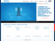 screenshot http://www.soicex.com Soicex Electronique, spécialiste Motorola en Afrique.