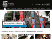 screenshot http://www.solartis.org solartis, l'agence en évênementiel relationnel