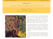 screenshot http://www.soleilensoi.com cabinet de kinésiologie à lyon
