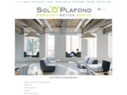 screenshot http://www.soloplafond.com vente de revêtement de sols et murs