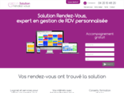 screenshot http://www.solution-rendez-vous.com logiciel de gestion et prise de rendez-vous online
