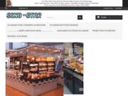 screenshot http://www.sono-star.com sono-star éclairage  boutiques magasins commerces forain alimentaire parcs extérieur lampes