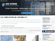 screenshot https://sos-vitrier-montpellier.fr/ Les services de vitrerie